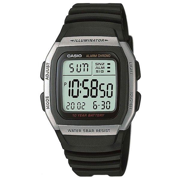 Электронные часы Casio Collection W-96H-1ACasio Collection W-96H-1A - это стильные мужские часы.Характеристики:Корпус изготовлен из пластика. Класс водонепроницаемости - WR50 (5 атмосферы), благодаря чему часы можно не снимать перед плаванием. Батарея рассчитана на 10 лет. Секундомер, будильник, двойное время.Подсветка: иллюминатор. Пластиковое стекло и корпус. Функция будильника.<br><br>Цвет: черный,серый<br>Тип: Электронные часы<br>Возраст: Взрослый<br>Пол: Мужской