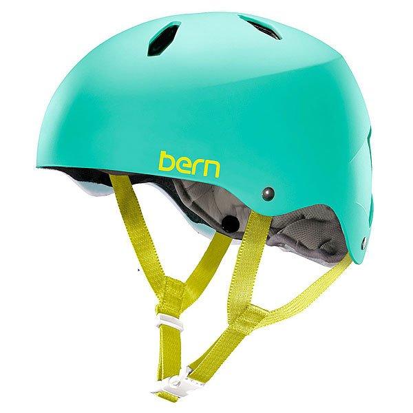 Шлем для велосипеда детский Bern Bike EPS Diabla Satin Turquoise GreenBE-VW9ESTUMLШлем Bern Diablo - отличный вариант защиты для подростков от 8 до 15 лет. Практичный, функциональный и надежный, готов стать верным спутником в любых приключениях!Технические характеристики: Пена EPS - наполнитель, сохраняющий свои свойства после множества ударов.Ультра тонкий корпус Thin Shell специально разработан для пены EPS, предназначен для защиты от сильных ударов.Соответствует стандартам CPSC (велосипед и ролики), ASTM F 2040, EN1078 (зимние виды спорта).<br><br>Цвет: голубой<br>Тип: Шлем для велосипеда<br>Возраст: Детский