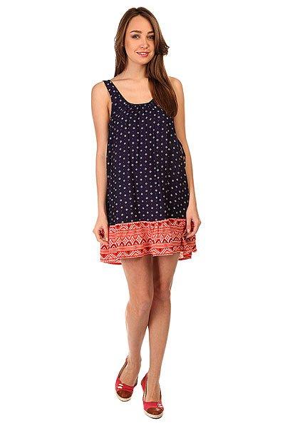 Платье женское Roxy Shadow Small Gypsy MicroЛегкое женское платье с глубоким вырезом на спинке SHADOW PLAY от ROXY.Технические характеристики: Легкий текстиль.Широкие лямки.Глубокий вырез на спинке.Присборка на груди и на спине.Свободный крой.Контрастный подол с орнаментом.<br><br>Цвет: синий,оранжевый<br>Тип: Платье<br>Возраст: Взрослый<br>Пол: Женский