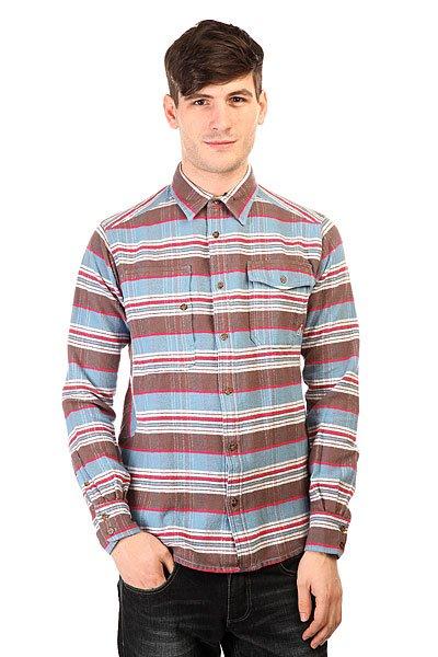Рубашка в клетку Burton Mb Mill Wvn Blue Astr Rming Strp<br><br>Цвет: коричневый<br>Тип: Рубашка в клетку<br>Возраст: Взрослый<br>Пол: Мужской