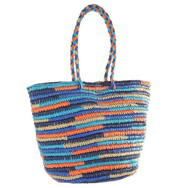 Сумка женская Roxy Butternut True BlueЯркая пляжная сумка из плетеной бумаги - отличный аксессуар на лето от Roxy.Технические характеристики: Пляжная сумка-тоут.Соломенное изделие.Плетеные ручки.Закрывается на магнитную застежку.Металлический значок ROXY.Насыщенный летний дизайн.<br><br>Цвет: мультиколор<br>Тип: Сумка<br>Возраст: Взрослый<br>Пол: Женский