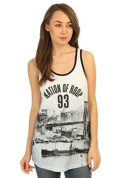 Майка женская K1X Noh Tank Top Brooklyn<br><br>Цвет: белый,черный<br>Тип: Майка<br>Возраст: Взрослый<br>Пол: Женский