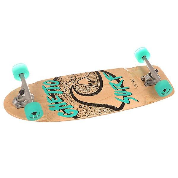 Скейт круизер Quiksilver Ghetto Surf Multicolour 10 x 30 (76 см)Отличный скоростной скейт с оригинальным дизайном деки.Технические характеристики: Материал - канадский клен.Песчаная шкурка.Японский клей на водной основе.Подшипники ABEC 9.Алюминиевые спейсеры.Подвеска inverted kingpin - 18 см.Длина деки - 76 см, ширина - 25 см.Колеса 66х45 мм, 78А.<br><br>Цвет: бежевый,голубой<br>Тип: Скейт круизер<br>Возраст: Взрослый<br>Пол: Мужской