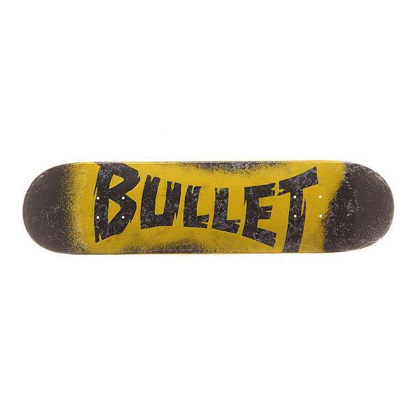 Дека для скейтборда для скейтборда Bullet S6 Sprayed Black 30.7 x 7.8 (19.8 см)Ширина деки: 7.8 (19.8 см)    Длина деки: 30.7 (78 см)    Количество слоев: 7Качественная и прочная дека из канадского клена. Идеально подходит для тех, кто только начинает поиски своего стиля катания.Технические характеристики: Конструкция из 7 слоев канадского клена.Конкейв Medium.<br><br>Цвет: черный,серый,желтый<br>Тип: Дека для скейтборда<br>Возраст: Взрослый<br>Пол: Мужской