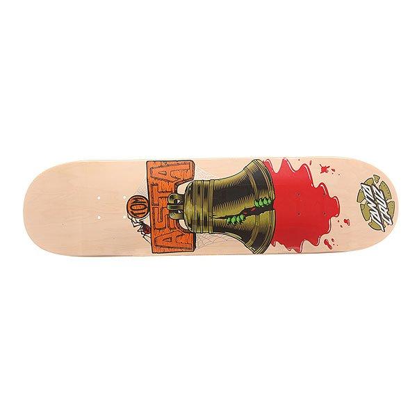 Дека для скейтборда для скейтборда Santa Cruz S6 Asta Bell 31.6 x 8.0 (20.3 см)Ширина деки: 8.0 (20.3 см)    Длина деки: 31.6 (80.3 см)    Количество слоев: 7Про-модель от Tom Asta. Классическая дека  для скейтборда из североамериканского клена способна выдержать максимальные нагрузки и воплотить Ваши идеи в реальность.Технические характеристики: Североамериканский клен.Конкейв Medium.Колесная база 36,1 см.<br><br>Цвет: бежевый,мультиколор<br>Тип: Дека для скейтборда<br>Возраст: Взрослый<br>Пол: Мужской