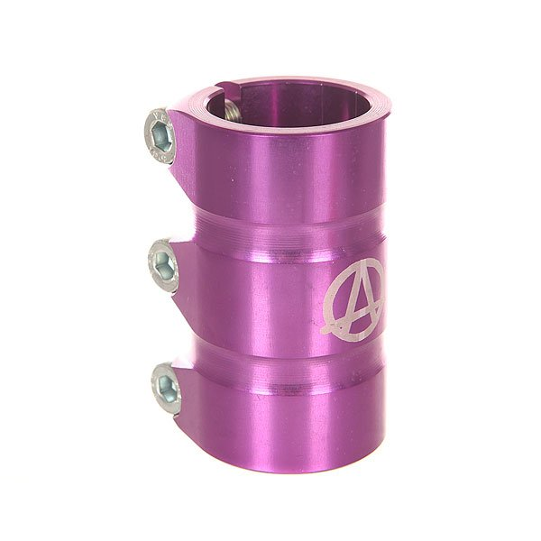 Зажимы Apex Scs Gama PurpleЗажим для самоката Apex Scs Gama. Характеристики:Материал: 90% алюминий, 10% сталь. Высота: 78 мм.Совместимость: рули типа SCS. Вес: 247 г.<br><br>Цвет: фиолетовый<br>Тип: Зажимы<br>Возраст: Взрослый<br>Пол: Мужской