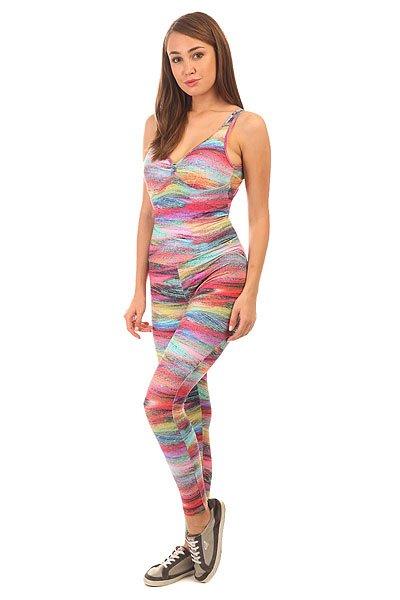 Комбинезон для фитнеса женский CajuBrasil Bojo Estampado Su Pink/Light Blue<br><br>Цвет: мультиколор<br>Тип: Комбинезон для фитнеса<br>Возраст: Взрослый<br>Пол: Женский