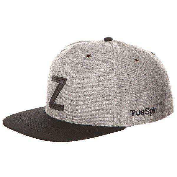 Бейсболка с прямым козырьком TrueSpin Abc Snapback Dark Grey/Black Leather-z<br><br>Цвет: серый,черный<br>Тип: Бейсболка с прямым козырьком<br>Возраст: Взрослый