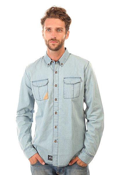 Рубашка Picture Organic Cork Shirt Jeans<br><br>Цвет: голубой<br>Тип: Рубашка<br>Возраст: Взрослый<br>Пол: Мужской