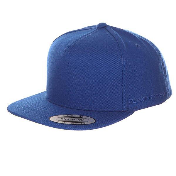 Бейсболка с прямым козырьком Flexfit 6007 Royal<br><br>Цвет: синий<br>Тип: Бейсболка с прямым козырьком<br>Возраст: Взрослый