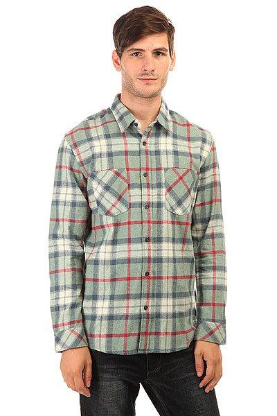 Рубашка в клетку Quiksilver Fithrower Fitzthrower Chinois<br><br>Цвет: зеленый<br>Тип: Рубашка в клетку<br>Возраст: Взрослый<br>Пол: Мужской