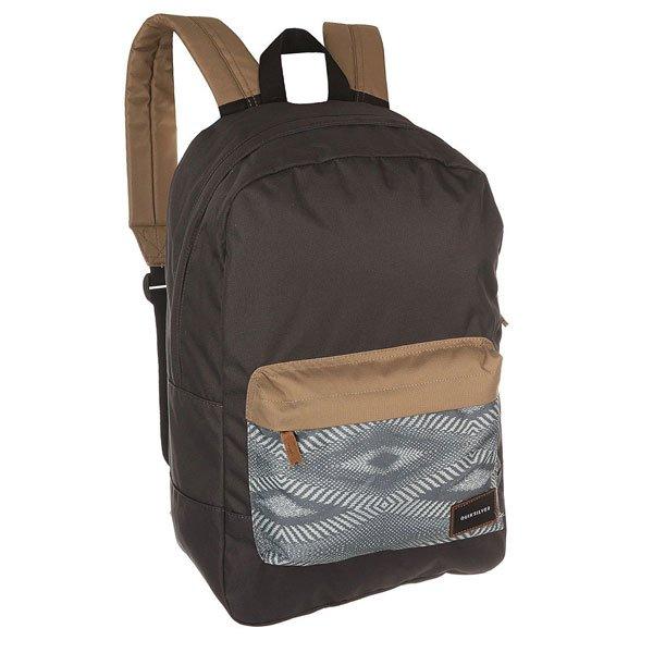 Рюкзак городской Quiksilver Night Track Pri Bkpk Dreamweaver MultiПрактичный городской рюкзак со свободной организацией пространства с карманом для ноутбука для дополнительного удобства.Технические характеристики: Большое основное отделение.Внутренний отсек для ноутбука 15.Передний карман на молнии.Мягкие лямки.Логотип Quiksilver.<br><br>Цвет: черный,мультиколор<br>Тип: Рюкзак городской<br>Возраст: Взрослый