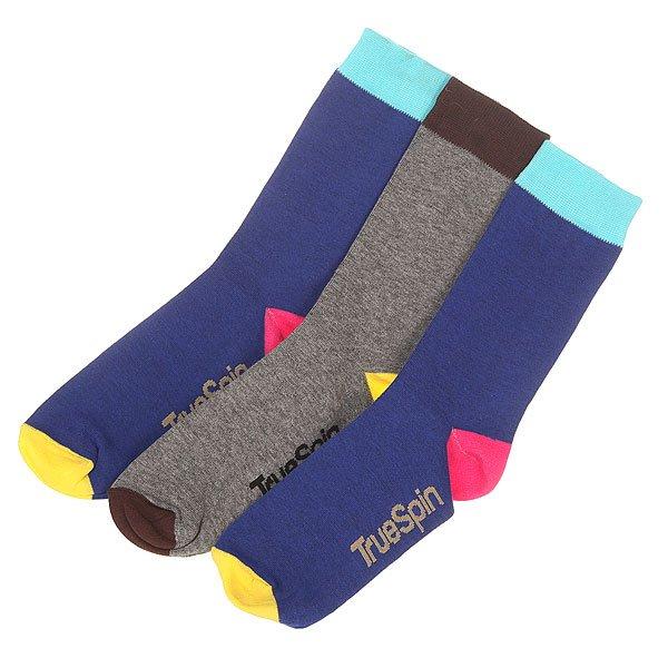 Носки средние TrueSpin Монте Колер Royal/Grey<br><br>Цвет: синий,серый<br>Тип: Носки средние<br>Возраст: Взрослый<br>Пол: Мужской
