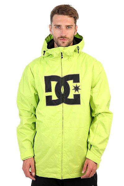 Куртка DC Story Tender ShotsМужская сноубордическая куртка в стиле DC с  утеплителем и влагостойкой мембраной Exotex 10K.Технические характеристики: Мембрана EXOTEX 10К (10 000 мм, 5 000 г/кв.).Теплая и уютная подкладка из тафты.Утеплитель (тело 80 г, рукава 40 г).Критические швы проклеены.Вставки из сетки для воздухообмена.Несъемная снежная юбка.Капюшон с козырьком.Система пристегивания куртки к штанам.Манжеты на липучках.Эргономичные рукава.Карманы с утепленной подкладкой на молнии.Кармашек для скипасса на липучке Velcro на рукаве.Внутренний карман на липучке Velcro.Внутренний сеточный карман для маски.Подол на утяжке.<br><br>Цвет: зеленый<br>Тип: Куртка утепленная<br>Возраст: Взрослый<br>Пол: Мужской