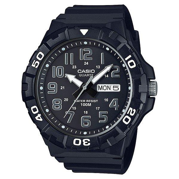 Электронные часы Casio Collection Mrw-210h-1aНедорогие спортивные часы исполненные в стилистике дайверских часов. Большие, легкочитаемые стрелки со светонакопителем, поворотный безель и резиновый ремешок.Характеристики:Точный кварцевый механизм.Центральная секундная стрелка. Окошко даты и дня недели. Точность хода не хуже от -10 до +20 сек. в месяц. Минеральное стекло устойчивое к возникновению царапин. Светонакопительный состав на стрелках. Водозащита до 10 АТМ.Поворотный безель. Прочный резиновый ремешок. Простая ремешковая застежка. Срок службы батареи 3 года.<br><br>Цвет: черный<br>Тип: Электронные часы