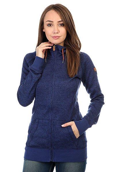 Толстовка классическая женская Roxy Resin Knit Blue Print<br><br>Цвет: синий<br>Тип: Толстовка классическая<br>Возраст: Взрослый<br>Пол: Женский