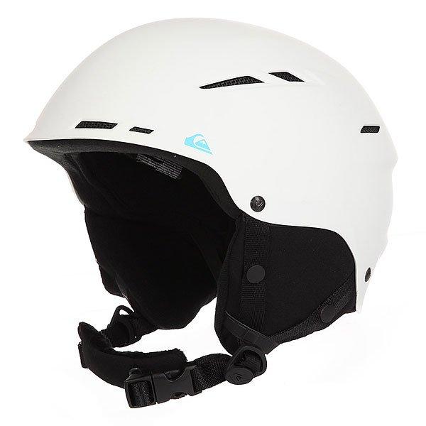 Шлем для сноуборда Quiksilver Motion WhiteПростой, но в тоже время надежный шлем из пластика ABS с вентиляционными отверстиями для комфортного катания.Технические характеристики: Сверхпрочный корпус из пластика ABS.Вентиляционные отверстия для эффективного воздухообмена.Подкладка из флиса и сетки.Съемные ушные накладки.Ремень для подбородка из шерпы.Вес 495 г.<br><br>Цвет: белый<br>Тип: Шлем для сноуборда<br>Возраст: Взрослый<br>Пол: Мужской