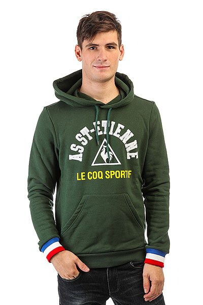 Толстовка кенгуру Le Coq Sportif Asse Po Hood Pine Grove<br><br>Цвет: зеленый<br>Тип: Толстовка кенгуру<br>Возраст: Взрослый<br>Пол: Мужской