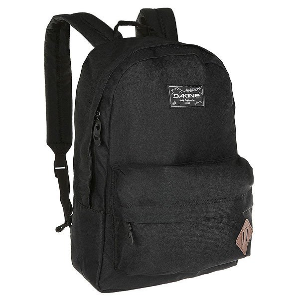 Рюкзак городской Dakine 365 Pack BlackФункциональный городской рюкзак с отличной вместительностью. Большое внутреннее отделение и внешний карман позволят Вам взять с собой все что нужно, и даже больше!Технические характеристики: Материал - полиэстер 600D.Основное отделение на молнии.Карман для ноутбука с диагональю экрана 15.Объемный внешний карман на молнии.Крепление на кармане для дополнительного груза.Мягкие плечевые ремни и ручка.Логотип Dakine.<br><br>Цвет: черный<br>Тип: Рюкзак городской<br>Возраст: Взрослый