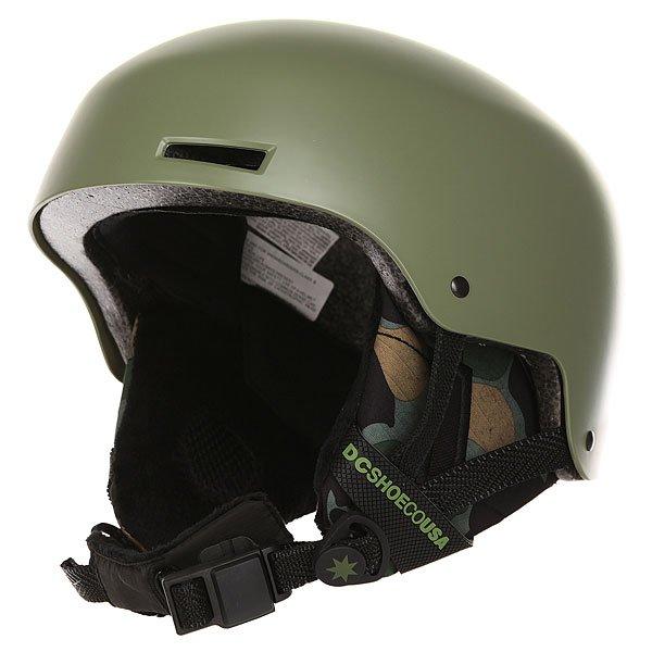 Шлем для сноуборда DC Bomber Four Leaf CloverЛаконичная и надежная конструкция, выполненная из прочного ABS пластика и дополненная внутренним слоем из амортизирующей пены EPS. Дополнительный комфортобеспечит флисовая подкладка и съемные амбушюры, готовые сохранить тепло, а внутренние каналы и вентиляционные отверстия в шлеме отрегулируют теплообмен.Характеристики:Прочная конструкция с внешним слоев из ABS пластика. Внутренний слой из вспененного материала EPS, амортизирующего удары. Флисовая подкладка. Накладка на подбородок из шерпа-флиса.Фронтальные и верхние вентиляционные отверстия с каналами во внутреннем слое шлема. Мягкие термоформованные съемные амбушюры.ЗастежкаFidlock®.Наклейки в комплекте. Вес: 550 г.<br><br>Цвет: зеленый<br>Тип: Шлем для сноуборда<br>Возраст: Взрослый<br>Пол: Мужской