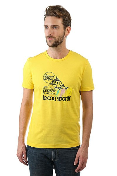 Футболка Le Coq Sportif Tdf Fan N°1 Original Jaune<br><br>Цвет: желтый<br>Тип: Футболка<br>Возраст: Взрослый<br>Пол: Мужской