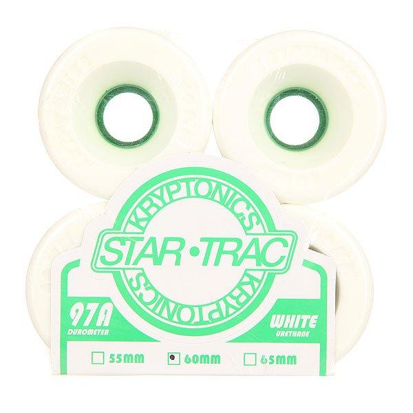 Колеса для скейтборда для лонгборда Kryptonics Star Trac White/Green 97A 60 mmДиаметр: 60 mm    Жесткость: 97A    Цена указана за комплект из 4-х колес<br><br>Цвет: белый,зеленый<br>Тип: Колеса для лонгборда
