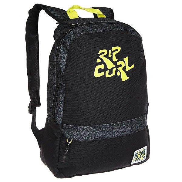 Рюкзак городской Rip Curl 100% Surf Stone BlackХарактеристики:Ультралегкий рюкзак для ежедневного использования.Вмещает папку формата А4.Смягченные и регулируемые ремни.Лицевой карман на молнии.Резиновая нашивка.<br><br>Цвет: черный,серый<br>Тип: Рюкзак городской<br>Возраст: Взрослый