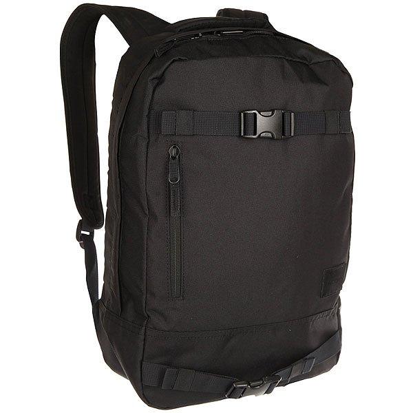 Рюкзак спортивный Nixon Del Mar Backpack All BlackЭтот скейтерский рюкзак от Nixon продумандо мелочей. Просторное отделение, отсек для ноутбука, карман для солнечных очков, ремни для транспортировки скейтборда, мягкие лямки эргономического кроя. Он станет отличнымспутником для путешествий с любимой доской.Характеристики:Большое основное отделение. Внешний карман на молнии. Регулируемые мягкие лямки. Ручка для ношения в руках.Внутренний отсек для ноутбука. Ремни для транспортировки скейтборда.Нашивка из искусственной замши с логотипом Nixon. Уплотнённая спинка.<br><br>Цвет: черный<br>Тип: Рюкзак спортивный<br>Возраст: Взрослый