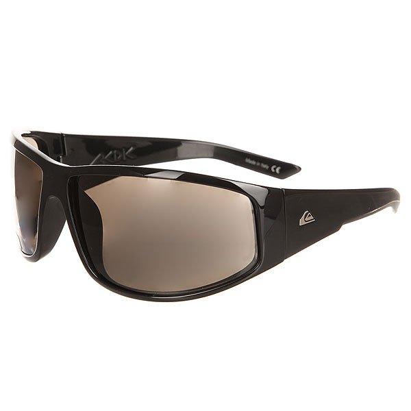 Очки Quiksilver Akdk Shiny True Black/Real GreyСолнцезащитные очки в спортивной оправе Akka Dakka от Quiksilver.Технические характеристики: Оправа из материала Grilamid.Ударопрочные линзы из поликарбоната.100% защита от ультрафиолетовых лучей.Линзы 3 категории защиты для очень солнечной погоды.Сделано в Италии.<br><br>Цвет: черный<br>Тип: Очки<br>Возраст: Взрослый<br>Пол: Мужской
