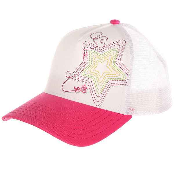 Бейсболка с сеткой женская K1X Shorty Fade Away Truck Cap Fuchsia/White<br><br>Цвет: белый,розовый<br>Тип: Бейсболка с сеткой<br>Возраст: Взрослый<br>Пол: Женский
