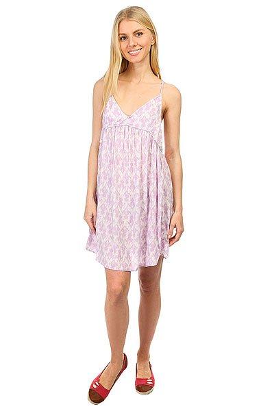 Платье женское Insight Demi Duo Sundress Almond<br><br>Цвет: белый,фиолетовый<br>Тип: Платье<br>Возраст: Взрослый<br>Пол: Женский