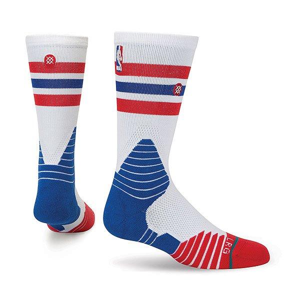 Носки средние Stance Nba Oncourt Crew Thin Stripe Red<br><br>Цвет: белый,синий,красный<br>Тип: Носки средние<br>Возраст: Взрослый<br>Пол: Мужской