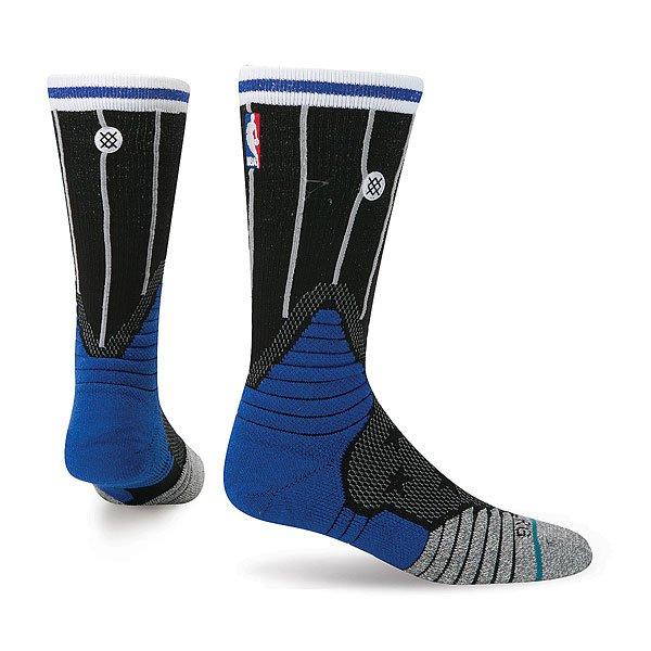 Носки средние Stance Nba Oncourt Logo Crew Magic Blue<br><br>Цвет: черный,синий,серый<br>Тип: Носки средние<br>Возраст: Взрослый<br>Пол: Мужской