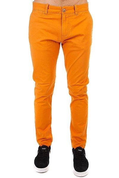 Штаны узкие Quiksilver Krandy Golden Oak<br><br>Цвет: оранжевый<br>Тип: Штаны узкие<br>Возраст: Взрослый<br>Пол: Мужской