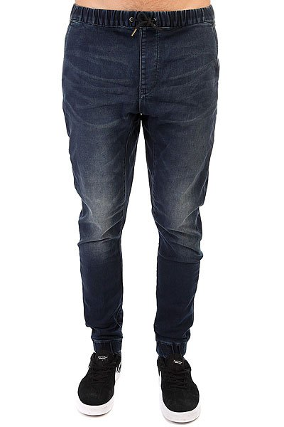Штаны прямые Quiksilver Fonicdenimblueb Blue Black<br><br>Цвет: синий<br>Тип: Штаны прямые<br>Возраст: Взрослый<br>Пол: Мужской