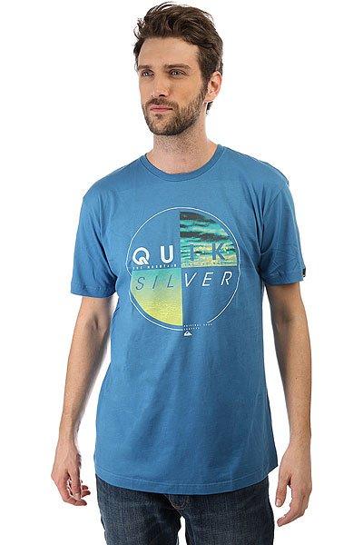 Футболка Quiksilver Blazed Vallarta Blue<br><br>Цвет: синий<br>Тип: Футболка<br>Возраст: Взрослый<br>Пол: Мужской