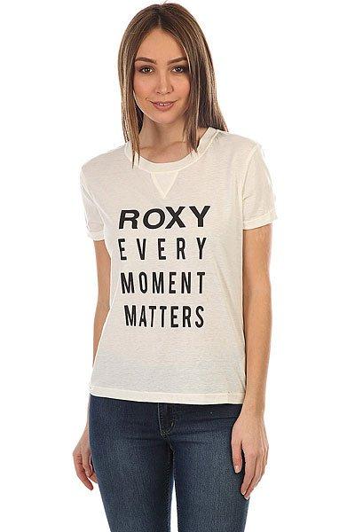 Футболка женская Roxy Minorswingc Marshmellow<br><br>Цвет: белый<br>Тип: Футболка<br>Возраст: Взрослый<br>Пол: Женский