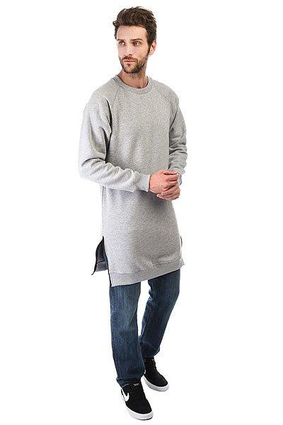Толстовка классическая Skills Long Sweatshirt Серая<br><br>Цвет: серый<br>Тип: Толстовка классическая<br>Возраст: Взрослый<br>Пол: Мужской
