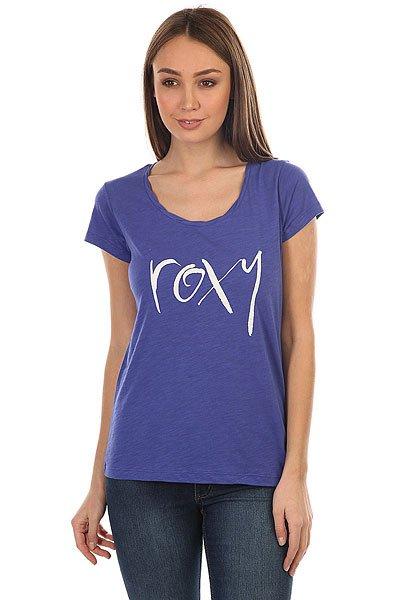 Футболка женская Roxy Bobbystraightup Royal Blue<br><br>Цвет: синий<br>Тип: Футболка<br>Возраст: Взрослый<br>Пол: Женский