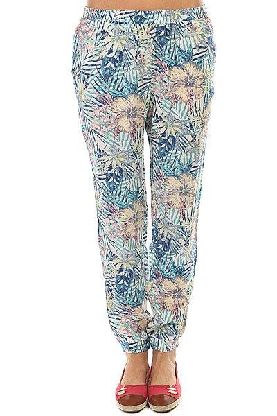 Штаны прямые женские Roxy Easy Peasy Pant Marshmallow Beyond<br><br>Цвет: мультиколор<br>Тип: Штаны прямые<br>Возраст: Взрослый<br>Пол: Женский
