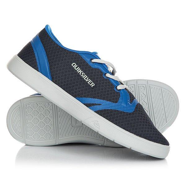 Кеды кроссовки низкие детские Quiksilver Oceanside Blue GreyПосле этих кед Oceanside от Quiksilver любая обувь будет казаться Вам тяжелой и неудобной. Невероятно легкие, за счет цельного бесшовного сеточного верха с превосходными дышащими свойствами, и в то же время под завязку наполненные технологиями. Тут и спортивный технологичный крой, и долговечная подошва двойной плотности, и уникальная подкладка, предотвращающая образование запахов, и даже шнуровка, позаимствованная у новых бордшортов AG47. Они станут Вашей любимой парой уже на этапе примерки!Характеристики:Цельный бесшовный сеточный верх с превосходными дышащими свойствами. Спортивный технологичный крой. Система шнуровки позаимствована у новых бордшортов AG47. Удобная дышащая сеточная подкладка.Исключительно удобная и долговечная подошва двойной плотности. Стелька из полимера EVA с антибактериальной и нейтрализующей запахи пропиткой Agion. Уникальная подкладка предотвращает образование запахов, бактерий, плесени и грибка.<br><br>Цвет: серый,синий<br>Тип: Кеды низкие<br>Возраст: Детский