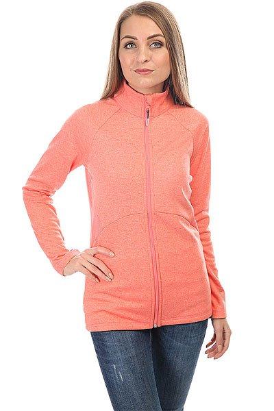 Толстовка классическая женская Roxy Dailyrun Fleece Shell Pink<br><br>Цвет: розовый<br>Тип: Толстовка классическая<br>Возраст: Взрослый<br>Пол: Женский
