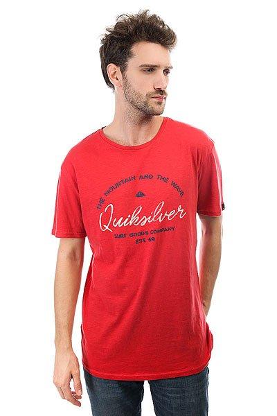 Футболка Quiksilver Herobay Cardinal<br><br>Цвет: красный<br>Тип: Футболка<br>Возраст: Взрослый<br>Пол: Мужской