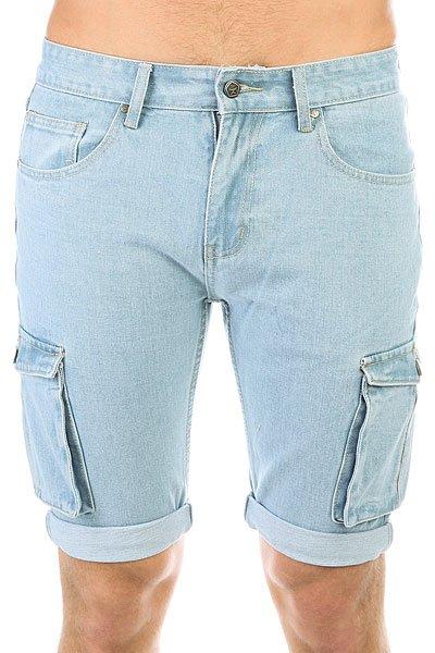 Шорты джинсовые Запорожец Basic Denim Short Zap Regular Flex Raw Blue<br><br>Цвет: синий<br>Тип: Шорты джинсовые<br>Возраст: Взрослый<br>Пол: Мужской