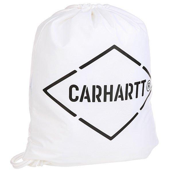 Мешок Carhartt WIP Wip Diamond Script Bag White/BlackМешок для переноски вещей – удобное изобретение для вашего удобства.Характеристики:Утяжка горловины. Тонкий шнурок.Декоративный принт.<br><br>Цвет: белый,черный<br>Тип: Мешок<br>Возраст: Взрослый