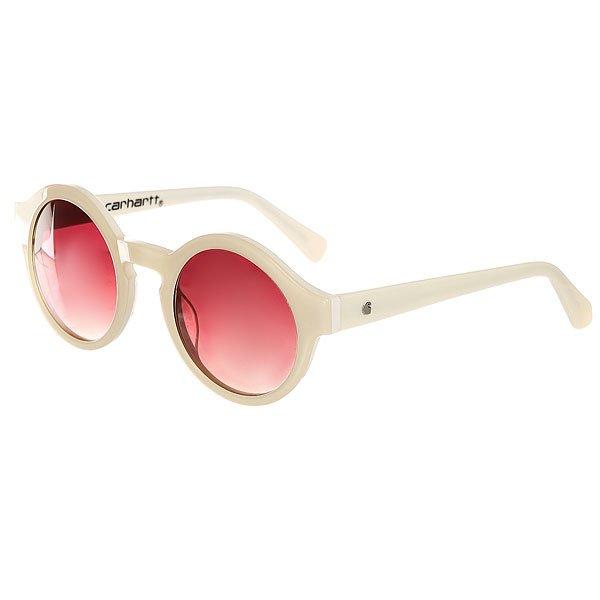 Очки Carhartt WIP Wip Fox Sunglasses White/Pink Gradient LensesКлассические солнцезащитные очки Carhartt WIP. В качестве основного материала используется 100% ацетат. Очки дополнены специальными линзами с защитой от ультрафиолета и прочной металлической фурнитурой, а также украшены логотипом бренда.Характеристики:Классический дизайн. Цветные линзы.Защита от ультрафиолета. Прочная металлическая фурнитура.Металлический логотип бренда снаружи дужки. Принт Carhartt на внутренней стороне дужки.<br><br>Цвет: белый<br>Тип: Очки<br>Возраст: Взрослый<br>Пол: Женский