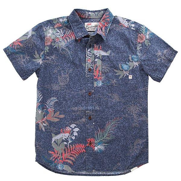 Рубашка детская Quiksilver Channelsbruzyth Navy Blazer Channels<br><br>Цвет: синий<br>Тип: Рубашка<br>Возраст: Детский