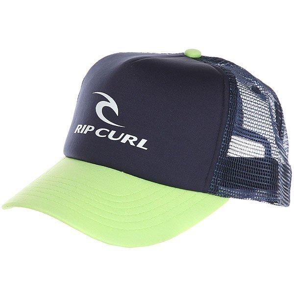 Бейсболка с сеткой Rip Curl Rc Corporate Trucker Lime<br><br>Цвет: синий,зеленый<br>Тип: Бейсболка с сеткой<br>Возраст: Взрослый