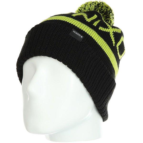 Шапка носок Nixon Teamster Beanie Black/Lime<br><br>Цвет: черный,зеленый<br>Тип: Шапка носок<br>Возраст: Взрослый<br>Пол: Мужской