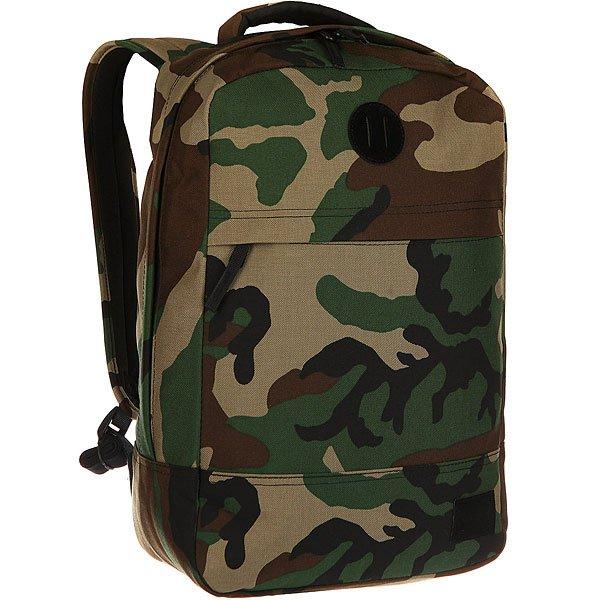 Рюкзак городской Nixon Beacons Backpack Woodland CamoКачественные и функциональные рюкзаки в оригинальном дизайне. Nixon путешествует по миру, проверяя рюкзаки на прочность. А вы готовы подняться на новый уровень?Технические характеристики: Материал - полиэстер 600D.Подкладка с тиснением из нейлона 210D.Мягкие лямки и плотная спинка.Карман для ноутбука.Органайзер.Передний карман для аксессуаров на молнии.Нашивка с логотипом.<br><br>Цвет: зеленый,бежевый,коричневый,черный,камувляжный<br>Тип: Рюкзак городской<br>Возраст: Взрослый